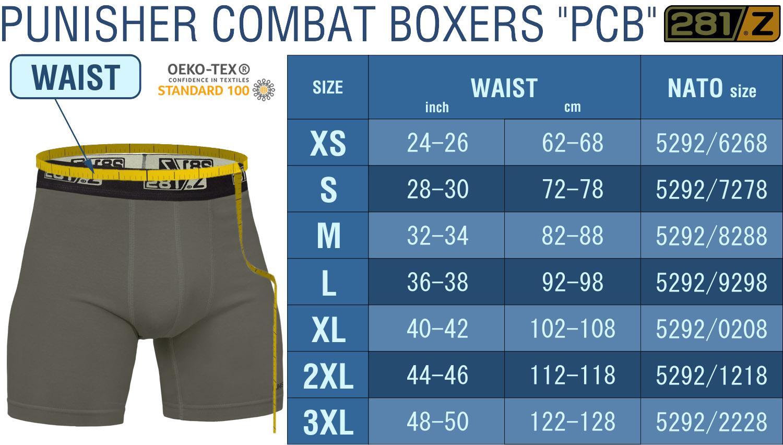 Розмірна сітка Punisher Combat Boxers